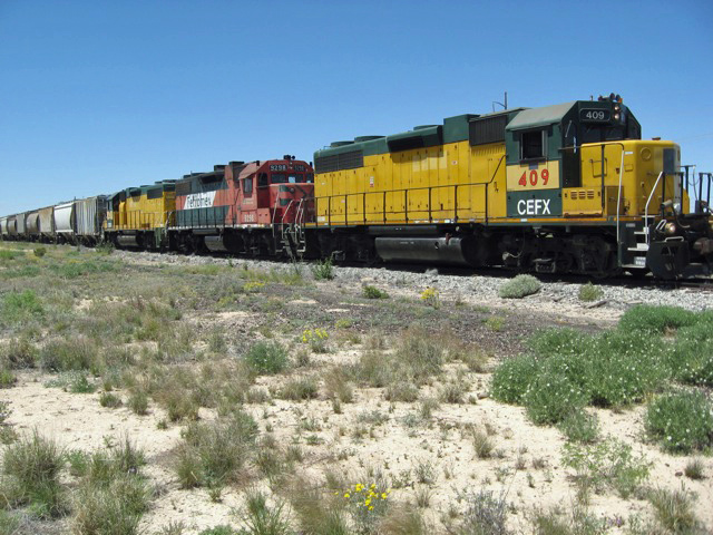 To help out after the CTEX units were let go, the South Orient, now known as the Texas Pacifico, received three units from Ferromex.